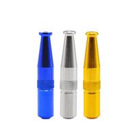 1 x Torpedo in alluminio tubo di fumo di metallo 5 colori pipa a mano Punta per la bocca cigratte tubo del tabacco in magazzino