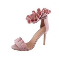 Kolnoo женщин ручной работы уникальный пряжками открытым носком высокие каблуки шпильках нарядные лодыжки ремень сандалии обувь розовый XD350