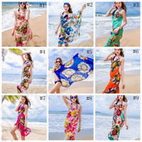 Women Floral Bikini Cover Ups Print Sexy Pareo Beach Dress B...