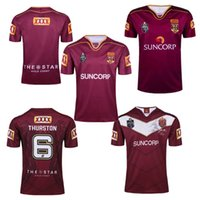 THURSTON 6 Atacado 2017 Australiano Queensland QLD Maroons camisa de Rugby NSWRL Holden Azul TURNÊ RUGBY JERSEY Frete Grátis