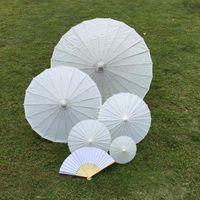 Ombrelloni da sposa bianchi Ombretti di carta bianchi Ombrello da mini cinesi artigianali 4 Diametro: 20,30,40,60 cm Decorazione bomboniera