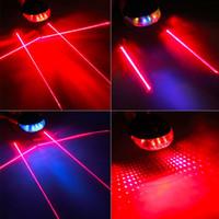5 LED Feixe de Laser MTB Mountain Bike Bicicleta Traseira Da Cauda Lâmpada de Advertência Luz frete grátis