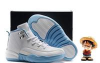 Big discount Chaussures de basket enfants 2018 12 Blanc Noir Ovo 12s Wolf Gris Pas Cher Garçons Filles Sport Athlétique Seakers