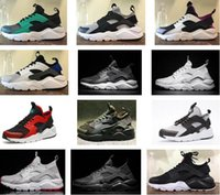 2018 Huarache Classical Triple White Black red gold men wome...