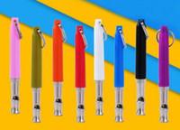500 pcs / lot Livraison Gratuite Coloré Chiot Chien Sifflet À Ultrasons Réglable Son Clé De Formation Pour Chien Pet