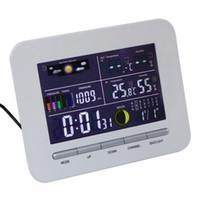 Freeshipping محطة الطقس IndoorOutdoor ميزان الحرارة الرطوبة عالية الدقة الرقمية اللاسلكية عرض اللون مع دليل التعليمات