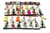 14 estilos Mezclado Cucharas de metal Cebo Pesca con mosca Pesca en hielo Freashwater Pesca VIB Cuchillas Spinner señuelos de lentejuelas Girar Spinnerbaits