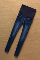 كان حار رقيقة 2017 الخريف والشتاء الجديدة الجينز السراويل تمتد سليم الكورية الأزياء دعامة بطن النساء الحوامل سروال رصاص