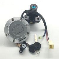 Moto Commutateur d'allumage gaz carburant Cap Seat Lock Set Key Pour Yamaha YZF-R1 1998-2003 YZF-R6 2006-2012 MT09 MT03 2003-2006 2013-2016