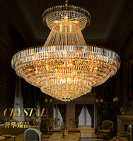 LED Modern Gold Crystal Chandeliers Lighting Fixture Round C...