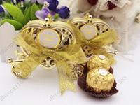 Nouveau Love Carroie Boîte De Mariage Boîte Faveurs Cadeau Candy Boîte à chocolat Boîte d'or et d'argent pour une fête d'anniversaire pour bébé de mariage