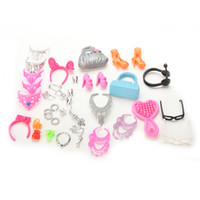 40 Pcs Doll Decor Fashion Jewelry for Barbie Necklace Earrin...