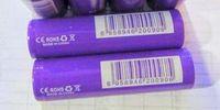Hochwertiges purpurrotes IMR 18650 Batterien 35A 2500mAh flacher Spitzenlithium für elektronische Zigaretten-Kasten-Mod Vape Vape Zerstäuber e-cogarette
