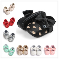 Newborn Shoes Baby pu First Walkers lovely sweat- heart embro...