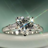 فيكتوريا weick المجوهرات الفاخرة 925 فضة تشيكوسلوفاكيا الماس الأبيض توباز الزفاف الاشتباك الفرقة القلب النساء البنصر هدية Size5-11