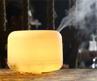 Yüksek Kaliteli Ultrasonik 500 ml Sıcak Beyaz Işıklar Aroma Difüzör Parfüm Nemlendirici Hava Temizleyiciler Atomizer 4 Zamanlayıcı ile HomeOffice için