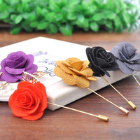 Fashion Jewelry Vintage Noble cloth Flower Man Woman Camelli...