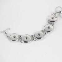 Горячая Оптовая Snap BraceletBangles новый дизайн античный посеребренные старинные цепи noosa куски браслет 6 стили подходят защелками ювелирные изделия