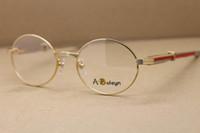 Atacado 7550178 homens Red Diamond em aço inoxidável óculos Exquisite Alloy Óculos frete grátis Óculos C Decoração Tamanho: 55-22-140