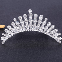 Rhinestone Brides Girls Queen Headwear Crowns Bridal Tiaras Wedding Party Prom Dresses 'Hair Comb Accessoires Head Piece voor Bruid