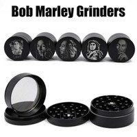 Bob Marley Grinder Zinc Alloy Herb Grinders 4 Layers 50mm He...