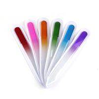 Limas de vidrio Duraderas Limas de cristal Cuidado de las uñas Cuidado de las uñas NailArt colorido para el salón de manicura UV Herramienta de esmalte 0603022