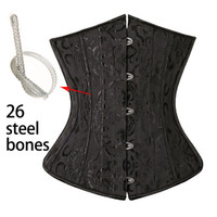 26 Steel Bones Corset Waist Cincher Corselet Body Shaper Sex...