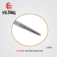 뜨거운 프로 50pcs / lot 13RL 미리 만들어진 살균 된 문신 바늘 라운드 라이너 일회용 문신 총 키트 공급