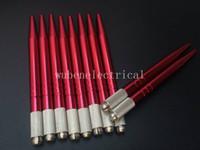 100 Adet Alüminyum Alaşım Kırmızı Profesyonel Tek Kullanımlık Manuel Kaş Dövme Kalıcı Makyaj Microblading Kalem