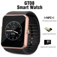 포장을 가진 인조 인간 Samsung 그리고 Smartphone 팔찌를위한 SIM 카드 구멍 및 NFC 건강을 가진 GT08 Bluetooth 똑똑한 시계