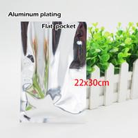 22 * 30cm Alluminio placcatura tasca piatta Termosaldatura Placcatura in alluminio Sacchetto per alimenti Conservazione cosmetici Imballaggi Spot 100 / confezione