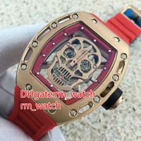 3c0208ae128 Relógio de alta qualidade skull tourbillon luxo dos homens 43mm esqueleto  de aço inoxidável relógio automático