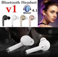 Mini Bluetooth Headset In-Ear Oortelefoon V1 CSR4.1 Draadloze Oordopjes Oortelefoon Headset Auto Driver Oortelefoon voor iPhone 7 met Mic Retail Doos