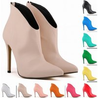 11 Colors Zapatos Mujer Fashion Womens Pointed Toe Faux Leat...