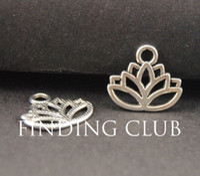 Großhandel-50 stücke Zink Legierung Antike Tibetische Silber Lotus Blume Charms Anhänger Fit DIY Metall Armband Halskette Schmuck Erkenntnisse A771