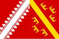 Франция Эльзас Флаг 3ft х 5ft Полиэстер Баннер Летучий 150 * 90см Пользовательский флаг на открытом воздухе
