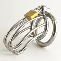 Male Chastity Belt of Stainless Steel Metal Cage offbeat sti...