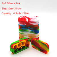 6+ 1 Silicone Wax Box Wax Containers Jars Dab Silicone Contai...