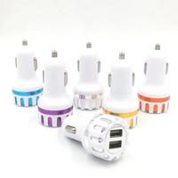 Caricabatteria da auto Dual USB universale di alta qualità per Smart Phone Car Adapter 5V 2A Samsung S8 MOTOROLA LG