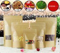 Lebensmittel Feuchtigkeitsbeständig Taschen Kraftpapier mit Aluminiumfolienauskleidung Fastfood- Beutel Ventil Verpackung Dichtung Beutel für Snack-Süßigkeit-Plätzchen-Backen