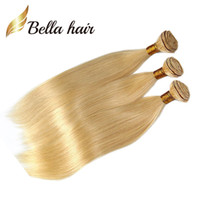 3pcs / lot 8A Honey Blonde Blonde Human Hair Weave Dritto Bionda Bundles Estensioni brasiliane Capelli Brasiliani Body Wave 613 Bella Capelli Bundles