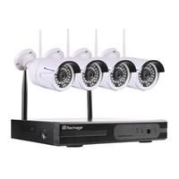 4CH 1080P 무선 NVR CCTV 시스템 와이파이 2.0MP IR 야외 총알 P2P IP 카메라 방수 비디오 보안 감시 키트