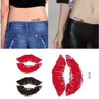 Сексуальные красные губы временные татуировки боди-арт Флэш татуировки наклейки 10.5*6 см Небольшой водонепроницаемый красоты временные тела татуировки наклейки искусства бесплатно