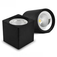 10W 15W COB LED Downlight plafonnier de LED AC110V AC240V pour montage en surface Cabinet Wall Spot bas Lampe de plafond Éclairage