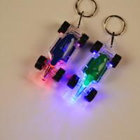 LED 레이싱 자동차 키 체인 손전등 조명 플래시 플래시 손전등 다채로운 F1 자동차
