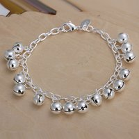 wedding Jingle bracelet 925 silver charm bracelet 20cm DFMWB...