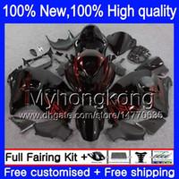 Körperkörper für Suzuki Hayabusa GSXR 1300 02 03 04 05 06 07 15LQ GSX R1300 GSXR-1300 GSXR1300 96 97 98 99 00 01 NEUES rotes schwarzes Verkleidungsset