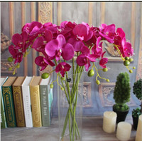 """Elegante bianco Phalaenopsis Butterfly Orchid fiore 78cm / 30.71 """"Lunghezza fiore orchidea finto per la cerimonia nuziale Decorazione della casa Bouquet di fiori"""