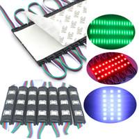 Luz de módulo LED SMD5050 3LED Luzes traseiras de injeção de RGB preto com lente DC12V À Prova D 'Água IP65 Módulos Lâmpada para Cartas Anúncios