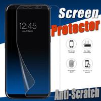 3D Kavisli Tam Kapak Kapsama Için Yumuşak TPU Ekran Koruyucu Film Samsung Galaxy S9 S8 Artı S7 Not 9 5 A6 A8 J5 J7 Pro iPhone XS Max XR X 8